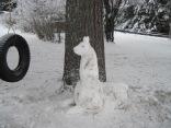 snow animal, snow llama, snowman