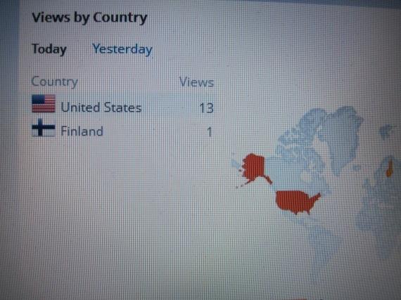 Finland, wordpress stats map