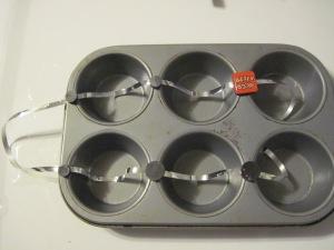 muffin pan, sun catcher, ice