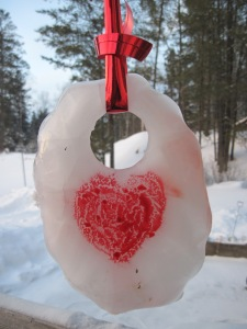 sun catcher, ice, valentine,