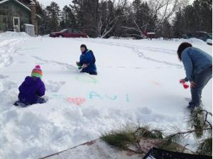 I always wanted to write names in the snow...