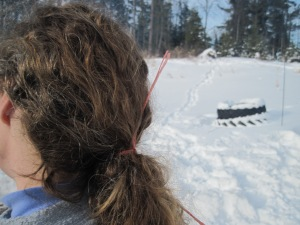Baler twine as a hair accessory. True story.