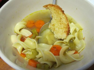 omnom, rooster noodle soup, chicken noodle soup, homemade soup